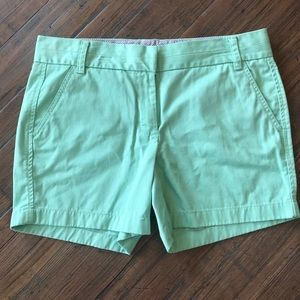J. Crew size 8 mint green broken-in chino shorts